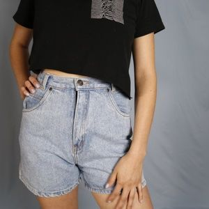 Vintage Denim Shorts 100% Cotton High Rise/Waist